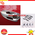 Car styling ABS Chrome door handle+handle bowl for Toyota COROLLA 2014 car accessories