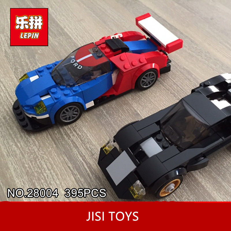 Lepin 28004 395Pcs Super Racer Series The GT395 Racing Car Set Children Educational Building Blocks Bricks Toys Model Gift 7588