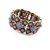 Elegant And Graceful Antique Colorful Resin Stone Bead Bangles
