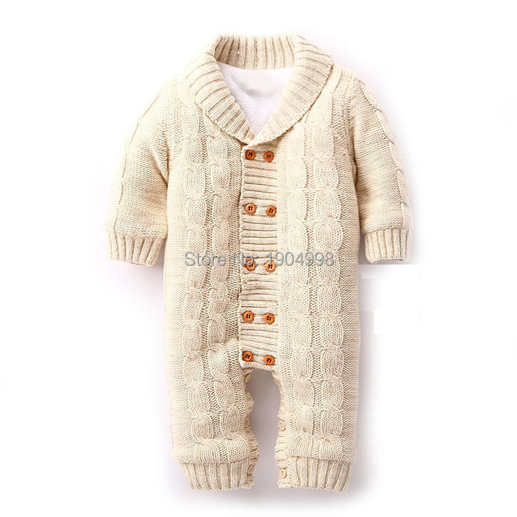 7850d3879bb cotton hand knit newborn overalls baby infant velvet climbing suits ...