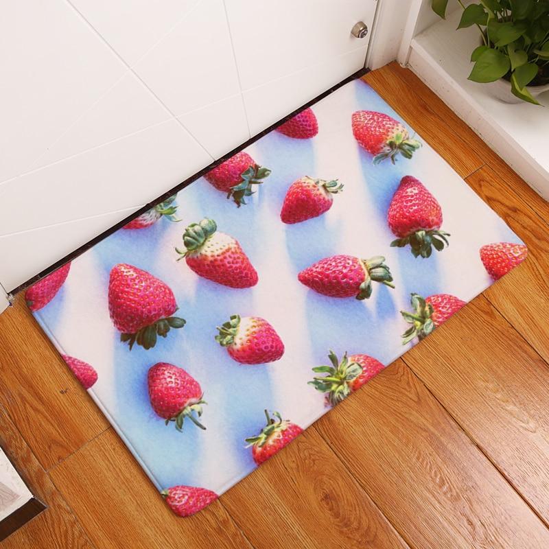 10 Style Fruit Pattern Tapetes de impressão Antiderrapante Tapetes - Têxteis domésticos