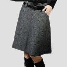 Новые модные юбки для женщин весна осень зима юбка миди-юбка с высокой талией размера плюс шерстяные юбки для женщин s Saias