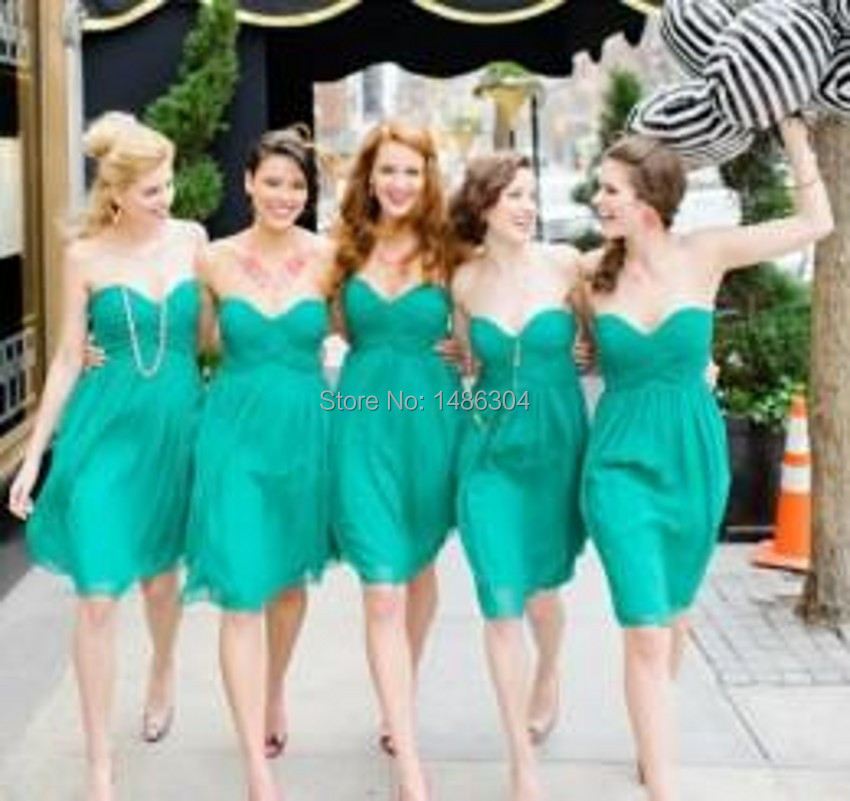 Strapless Short Teal Bridesmaid Dresses – fashion dresses