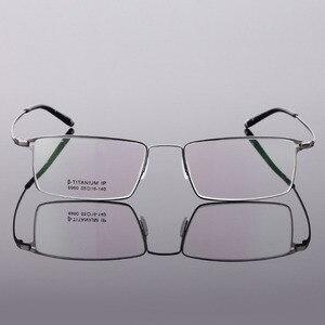 Image 3 - BCLEAR Classic Men Pure Titanium Full Rim Glasses Frames Myopia Optical Frame Ultra light Slim Eyeglasses Frame Black Gray Color