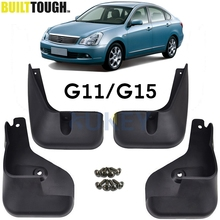 Mud Flaps For Nissan Almera G15 G11 RU Version 2012   2018 Bluebird Sylphy 06 14 Splash Guards Mudguards Fender 2013 2014 2015