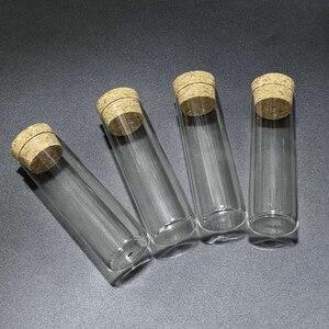 Image 1 - 12 adet/grup 30*100mm 50ml düz tabanlı cam test tüpü mantar tıpa ile çapı 30mm uzunluk 100mm