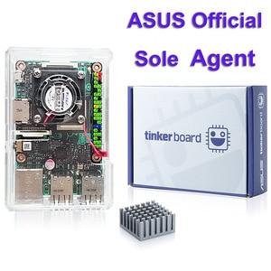 Image 1 - ASUS SBC Tinker board RK3288 SoC 1.8GHz رباعية النواة وحدة المعالجة المركزية ، 600MHz Mali T764 وحدة معالجة الرسومات ، 2GB LPDDR3 المفكر المجلس/tinkerboard