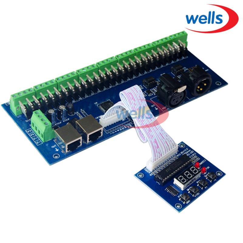 27CH DMX512 me kontrollues RJ45, ekran dixhital i tubit, anodë e - Aksesorë ndriçimi