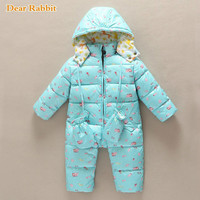 Russian overalls winter jumpsuit baby clothing clothes snowsuit 90% duck down jacket for girls coats Park infant boy snow wear