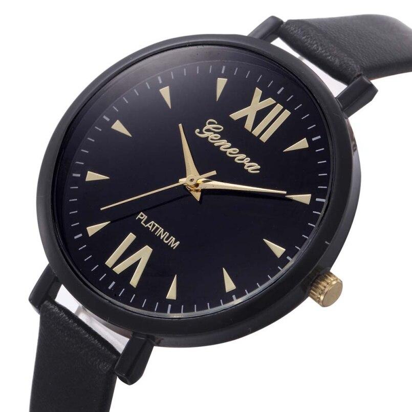 Excellent Quality New Arrival Fashion Brand Watch Womens Quartz Wristwatch Geneva Ladies Leather Band Luxury Watch relojes mujer