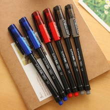 6 pcs/Lot 3 color gel pen 0.5mm ballpoint Red Blue Black super ink pens Stationery Office accessories school supplies FB208 rocket car shaped blue gel ink ballpoint pen red yellow