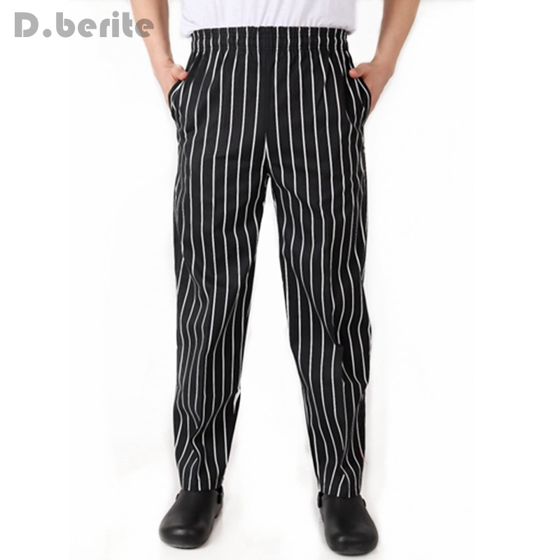 Chef Working Pants Waiter Trousers Elastic Comfy Cook Work Trousers Restaurant Food Service Clothes Work Wear