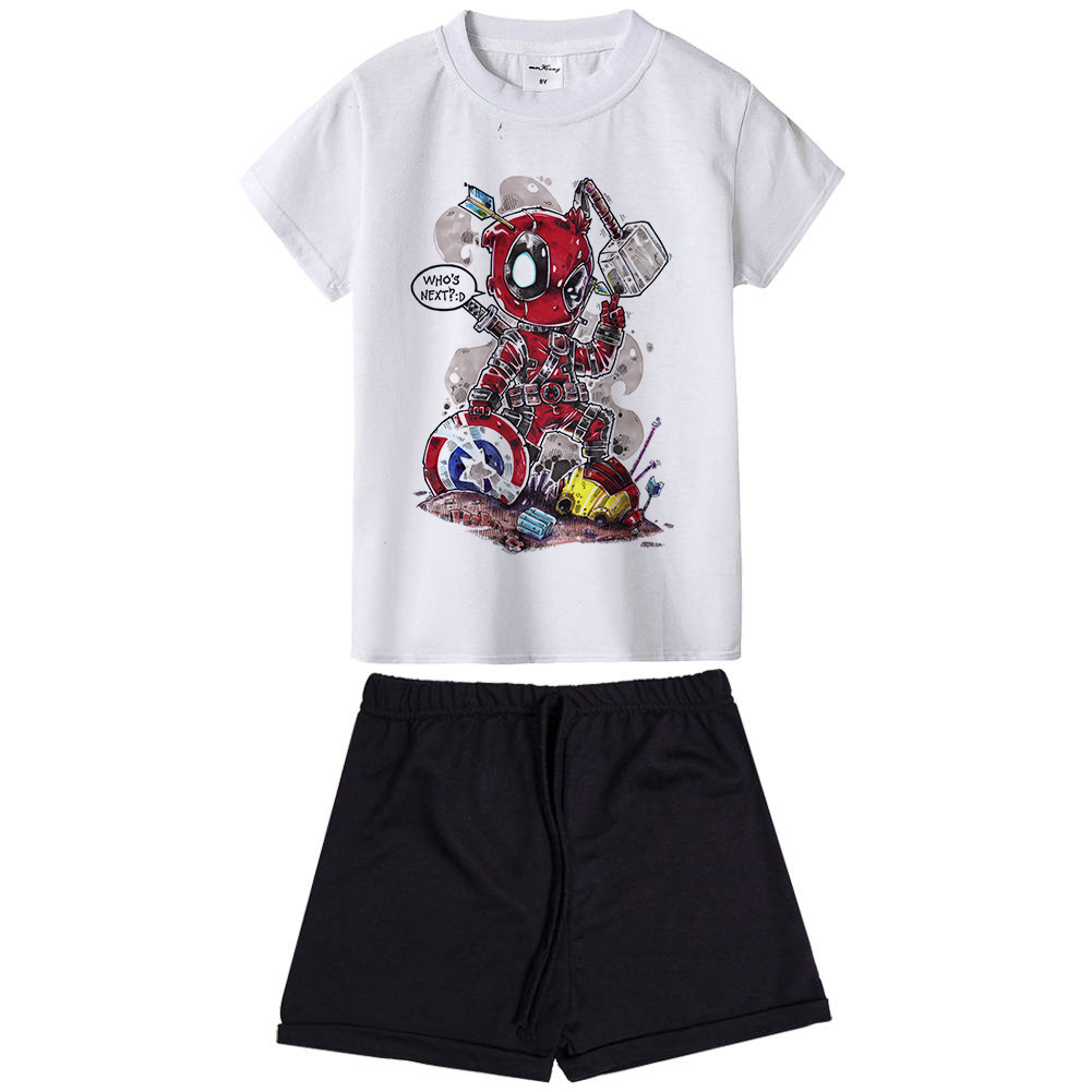 Funny Deadpool Boy Girl Kids Clothing Set Anime Superhero Children Clothes Dead Pool Cos ...