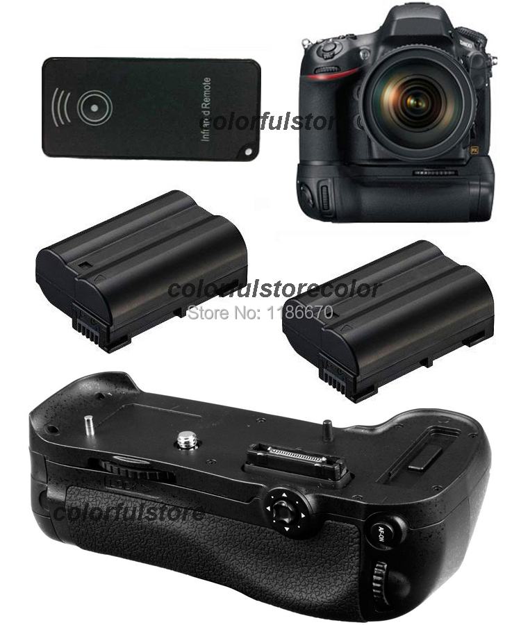 Vertical Power Shutter Battery Hand Handle Grip Pack Holder For Nikon D800 D800E DSLR Camera as MB-D12 + IR Remote + 2 x EN-EL15 new arrival battery handle hand grip pack holder vertical power shutter for nikon d750 camera as mb d16 2 x en el15 car charger