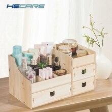 Декоративные мульти-функциональный деревянный шкатулка DIY стол разное органайзер для хранения для косметичка коробка Новый