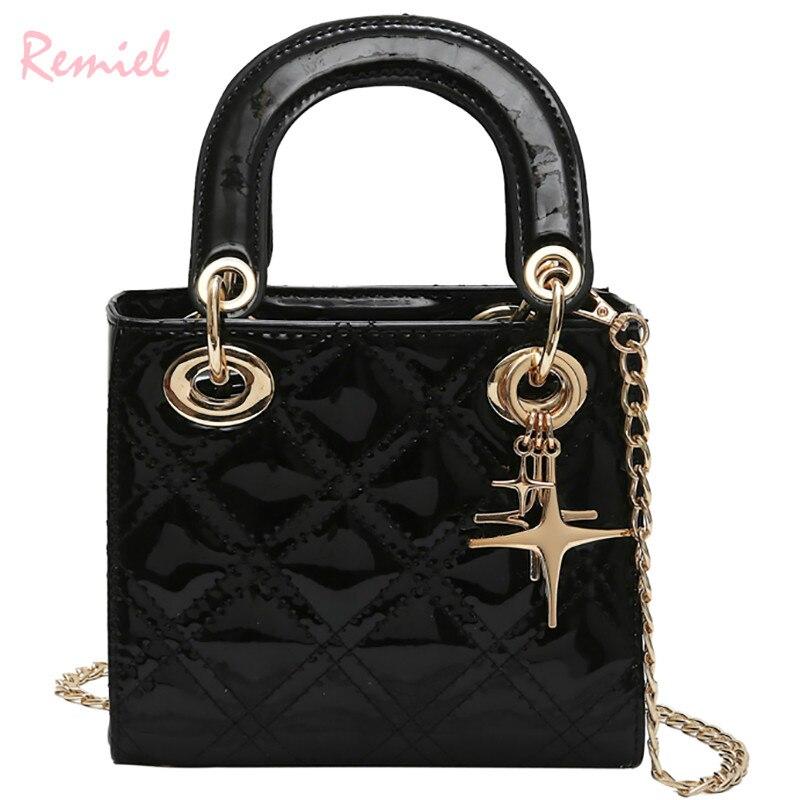 Luxury Brand Handbag 2019 Fashion New Female Tote Bag Quality PU Leather Women's Designer Handbag Chain Shoulder Messenger Bags