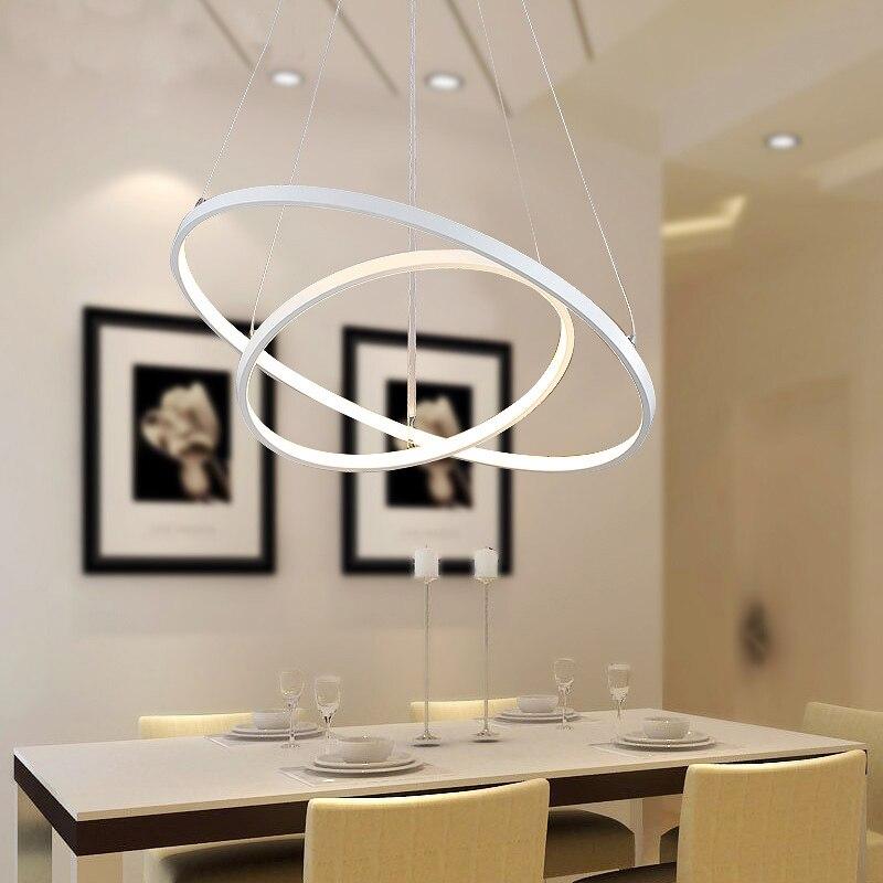 Modern Led Pendant Lamp Dinning Pendant Lights Luminaire Ring Lustre