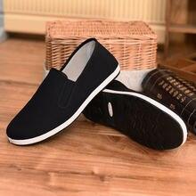 Высококачественные черные хлопковые туфли обувь кунг фу Брюс