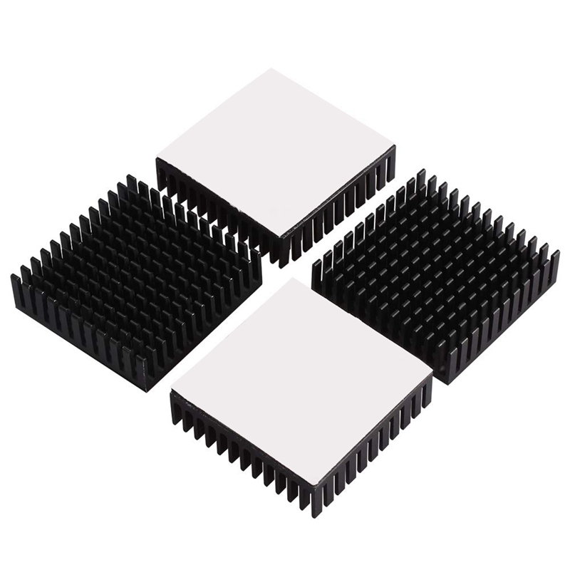 Image 4 - 40x40x10mm Black Radiator Aluminum Heatsink Extruded Profile Heat Dissipation Electronic,3d Printer Part (Pack Of 4)-in 3D Printer Parts & Accessories from Computer & Office