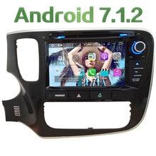 "8 ""Android 7.1 4 ядра 2 ГБ Оперативная память 4 г Wi-Fi аудио SWC dab + dvd-плеер Радио GPS NAVI Стерео для Mitsubishi Outlander 2014-2015"