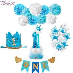 Image 5 - Fengrise風船1st誕生日バルーン空気2nd 1 1 2年歳ファースト誕生日パーティーの装飾ラテックスバルーンキッズ好意ベビーシャワー