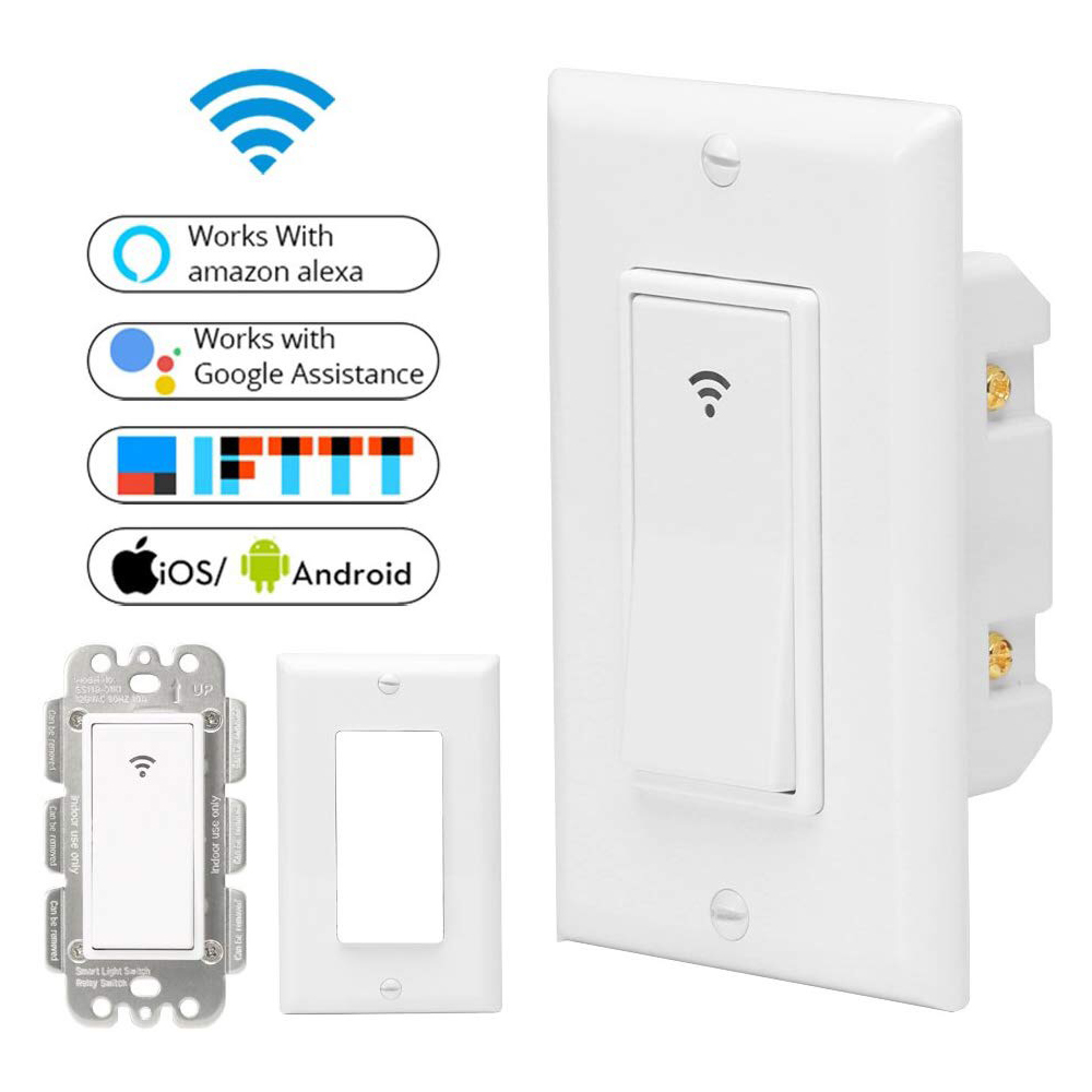 120 Type 1 Gang AC 100-240V Smart WIFI LED Light Switch Wall Panel Mobile APP Remote Control Works for Alexa Google Home IFTTT casio ltp e410d 7a
