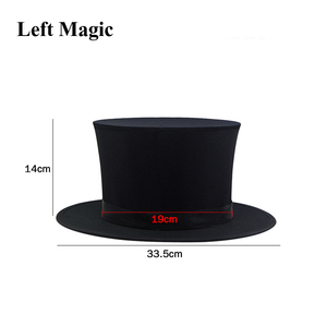 Image 2 - Folding Top Hat Spring Magic Tricks ( Black &  Playing Card Pattern )Appearing/Vanishing Objects Hat Stage Accessories Gimmick