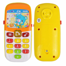 Toy Phone Electronic Musical Children Phone Toy Mini Cute Telephone Cellphone Baby Toys Early Education Cartoon