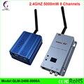 2.4 GHz 5000 mW 8 Canais DC12V transmissor e receptor de vídeo sem fio de longo alcance até 5 km AV apto para câmera de cctv dvr