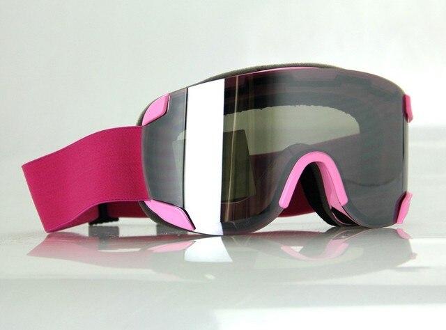 4a92f2ae1ea1 2015 Women men ski goggles fashionable ski goggles anti-fog lens purple  lens High quality discount goggles