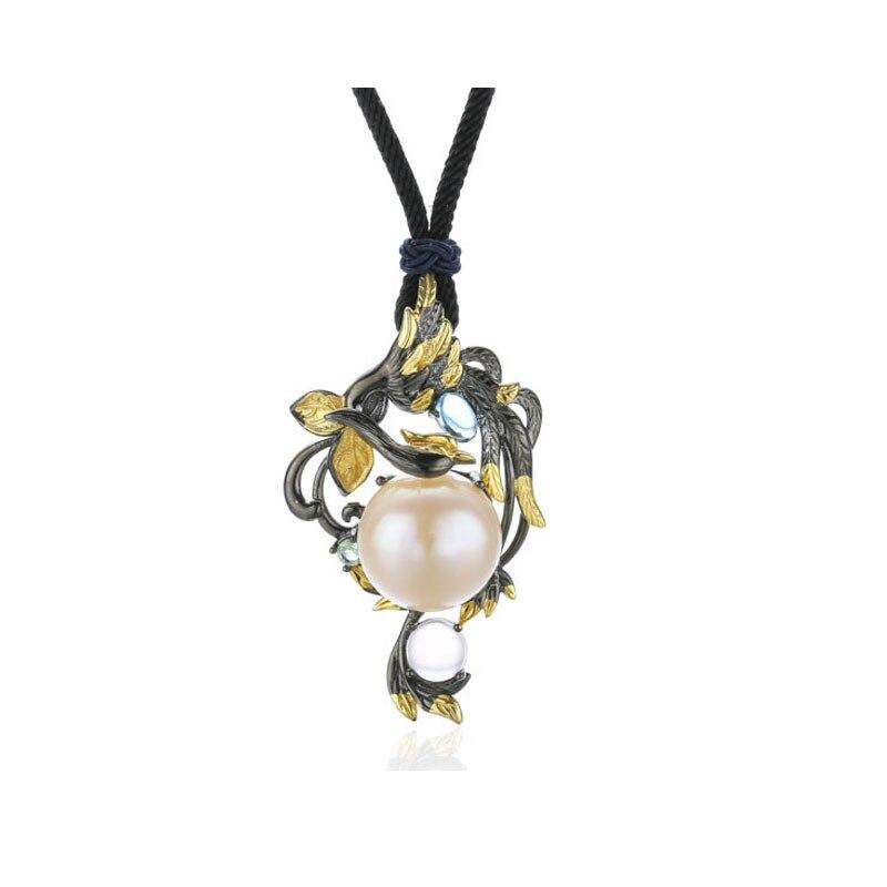 Pendentif RADHORSE en argent Sterling 925 bijoux fins perle de Phoenix Vintage modélisation artisanat fin S925 pendentifs en argent