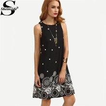 Ladies Vintage Dress Black Polka Dot