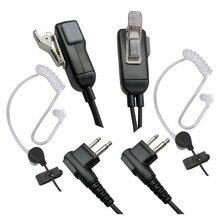 2 контактный микрофон, динамик иди и болтай Walkie Talkie гарнитура для Motorola наушники совместимы с радиоустройств, комплект из 2 предметов