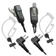 2 פין מיקרופון אפרכסת מכשיר קשר אוזניות עבור מוטורולה אוזניות תואם עם רדיו התקני 2PCS