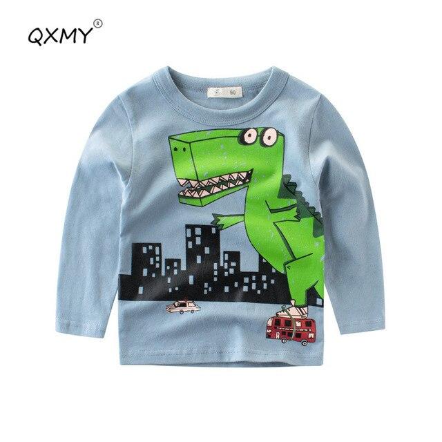 24fe88899c1e Aliexpress.com   Buy Spring Baby Boys T Shirt Cotton Dinosaur T shit ...