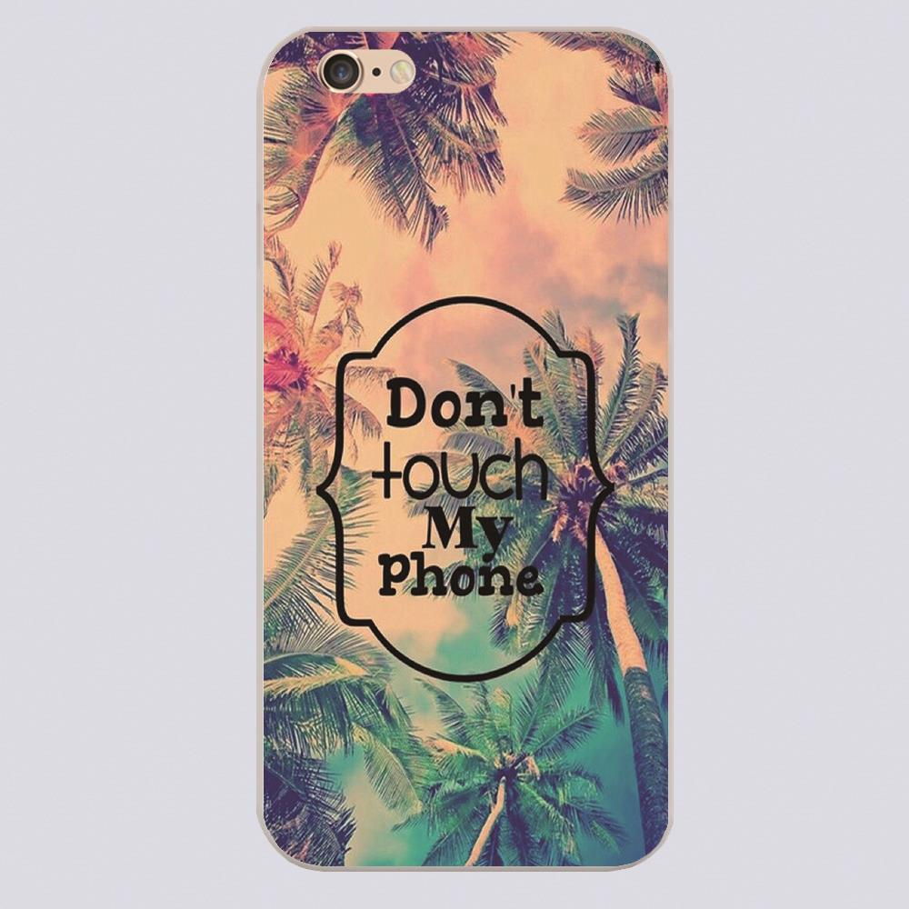 don't touch my phone art wallpaper Design phone cover cases for iphone 4 5 5c 5s 6 6s 6plus Hard
