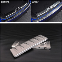 Car Interior Stickers Rear Fender Guard Plate Stainless Steel Cover Protector For Jaguar F Pace Car Accessories Pair