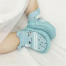 Детская кожаная обувь для первых шагов, детская обувь, хлопковая обувь для новорожденных, обувь для малышей-мальчиков, мягкая подошва, Осень-зима, детская обувь для маленьких девочек