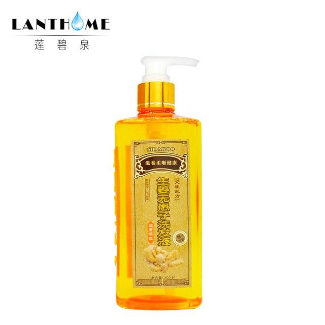 Profissional Gengibre Shampoo Anti-Queda de Cabelo Produto rebrota Natural do Cabelo Shampoo 300 ml reparação Nutrir shampoo flexível