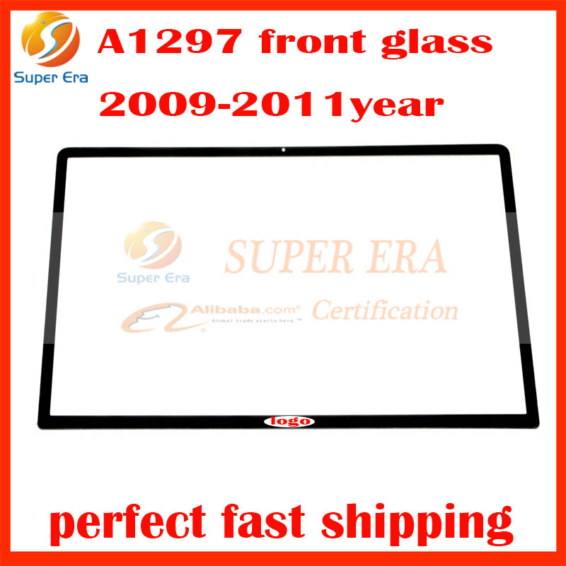 original used lcd display led screen front glass for macbook pro 17 A1297 lcd front glas ...
