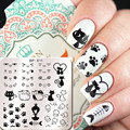 1 Pc BORN PRETTY Cute Cat Pretty Symbol Design Nail Art Stamp Template Animal Image Nail Stamping Plate BP-X11 6*6cm