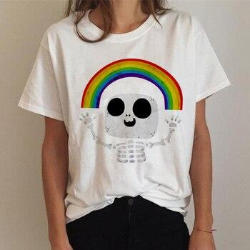 Lgbt T Shirt Women Gay Pride Shirt Lesbian Rainbow T-shirt Harajuku Ullzang Funny Tshirt 90s Graphic Love Is Love Top Tee Female 10