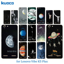 Phone Cases for Lenovo Vibe K5 Back Cover K5 Plus Lemon 3 A6020 Space Moon Pattern Skin Soft TPU Silicon For Lenovo A 6020 Shell(China)