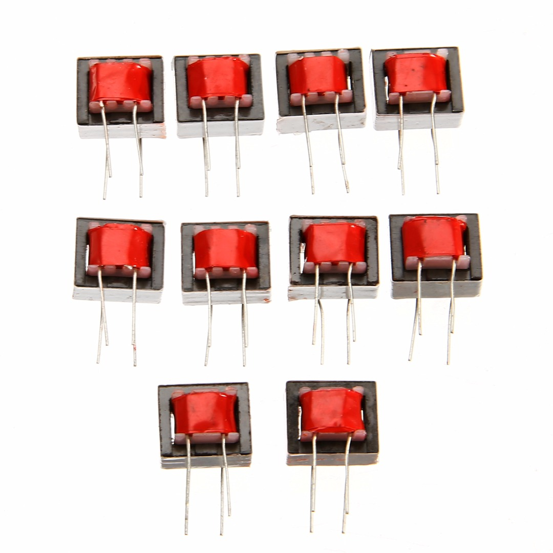 10pcs Red Nickel Alloy Audio Transformers 600 600 Ohm Europe 1 1 EI14 High Efficiency Isolation Transformers in Transformers from Home Improvement
