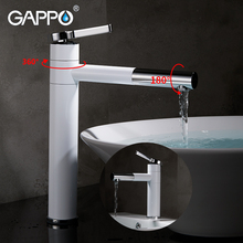 GAPPO Basin Faucets waterfall faucet basin mixer sink taps bathroom waterfall mixer taps deck mounted water taps led light changing color waterfall basin faucet deck mounted mixer taps brushed nickel dual handle three holes