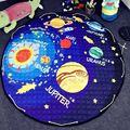 Algodón bebé muselina swaddle manta cojín de nota lindo de dibujos animados niño antideslizante juego alfombra mat toy recibido sirena
