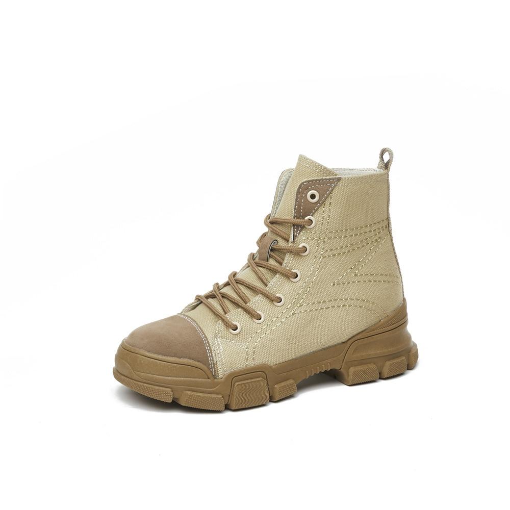 Para Piel Zapatos De Encaje Plantilla Botas Beige Invierno Moda Mujer Nieve khaki Las Tobillo Mujeres AU0x7