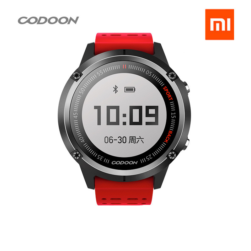 Оригинальный xiaomi mijia codoon Смарт Спорт gps часы S1 работать с смартфон приложение мониторинга сердечного ритма/50 м водонепроницаемый