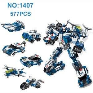 Image 4 - Transformation 6 in 1 Serie Figur Ziegel Stadt Roboter Starwars creator Bausteine Spielzeug für Kinder