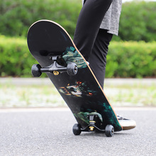 Four-wheeled Skateboard Children and Adolescents Beginners Professional Adult Boys Girls Double-warping Scooter Toy Games